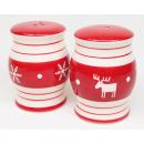 wholesale Kitchen Utensils: Salt shaker red / white 7,5x5,5cm from Dolomeit