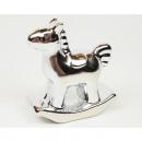 Rocking horse silver chromed 8x6x3cm