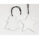 wholesale Lampes: Hanger 9x4cm, white dolomite with leather strap