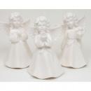 Angel 10x6x5,5cm fehér, fényes porcelán