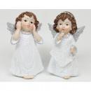 groothandel Home & Living: Angel weet van hars 9x5,5x 3cm