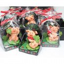 Lucky charm 7x5cm pig in gift box