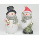 Snowman XL 13x6cm csillámmal és csillogó hóval