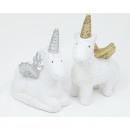 Unicorn white 11,5x10x 5cm ceramic