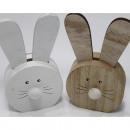 Fa nyuszi XL hosszú fülekkel, 14x7,7x3cm