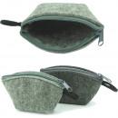 Tasche mit Reißverschluss aus Filz 10x7cm