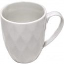 wholesale Figures & Sculptures: White porcelain coffee mug with structure