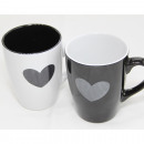 Coffee mug heart 12x11x8.5cm