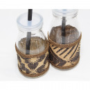 Drinking bottle with great rattan decoration 14x6.