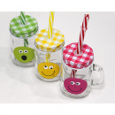 Sweet drinking glass with smile 8.5x7.5x5cm
