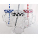 wholesale Drinking Glasses: Drinking glass with handle classic 13x10x7cm
