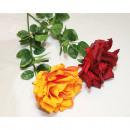 wholesale Artificial Flowers: Giant rose head diameter 13cm, 75cm long