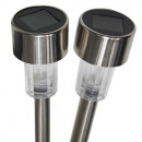 wholesale Garden & DIY store: Solar lamp stainless steel rod and top