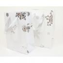 Ajándék táska hópehely fehér 23x18cm