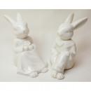 hurtownia Mieszkanie & Dekoracje: Bardzo szlachetny porcelanowy króliczek siedzący 1