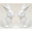 Hase XL 10,5x7cm strahlend weiss