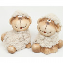 Cuddly sheep with a cute face 8x6x6cm