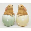 Nyúl a tojásban ülve 10,5x6cm