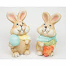 wholesale Home & Living: Bunny with a cute face and a scarf 11.5x5.5cm