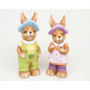 wholesale Figures & Sculptures: Bunny LUXURY painted with glitter 11x5x4cm
