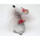 Luxury mouse with great feathers 11x6cm