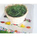 Påskbambukorg 14x9,5 cm fylld med gräs