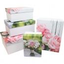 Ajándék vagy tároló doboz, rózsa csokor