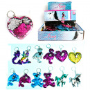 Keychain sequins 7 / 9cm 6- times assorted