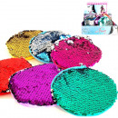 wholesale Bags & Travel accessories: Sequin wallet 11x11cm 6- times assorted