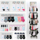 Großhandel Fashion & Accessoires: Socken Sortiment 480-teilig im Metall Display