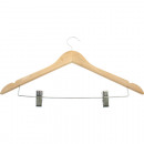 wholesale Accessories & Spare Parts: Coat hanger wood with 2 metal clips