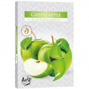 Tealight fragrance 6er green apple in carton