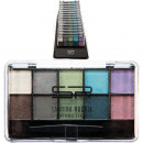 Cosmetic eyeshadow Sabrina 10er blue-green