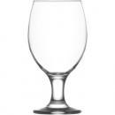 Bicchiere da birra in vetro da 400 ml, altezza: 16