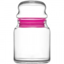 wholesale Kitchen Utensils: Glass jar with lid 290ml, DM: 7cm, H: 12cm