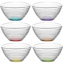 wholesale Drinking Glasses: Glass Bowl Set of 6! colored 300ml gift box