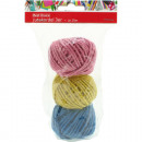 Gift ribbon jute cord in a ball 15mx3mm