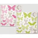 Premium napkins 20pcs 33x33cm, butterflies