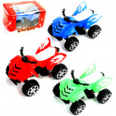Auto Quad with retreat 8.5cm, 3 colors assorted