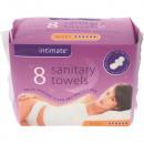 wholesale Toiletries: Sanitary napkin 8er plus night with wings 280mm SA