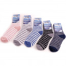 Socks cuddly socks striped design 5 times assorted