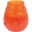 Candle lantern glass XL orange 8,5x10cm 465g