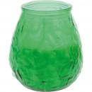 Gyertyalámpa üveg XL zöld 8,5x10cm 465g
