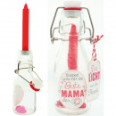 Kerze in Flasche 14cm Beste Mama