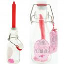 Bougie en bouteille 14cm La lumière de la bouteill
