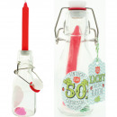 Candle in bottle 14cm A light for the 50th