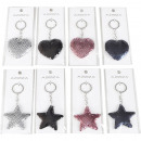 Keychain sequins 8- times assorted