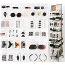 Hair fashion assortment 480 pieces in metal Displa