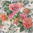 Prémium szalvéta virágok Vintage 20 -as évek 33x33