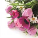 Premium napkins 'bouquet of tulips' 20 33X